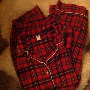Red plaid pajama set xl